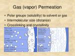 gas vapor permeation