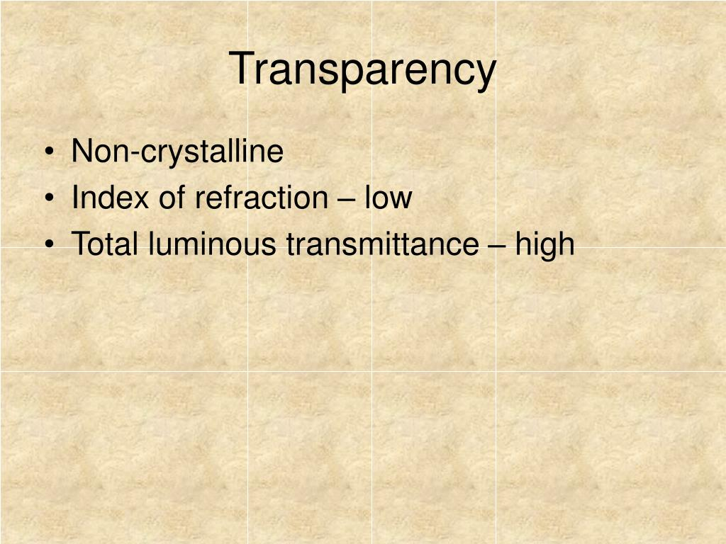 Transparency