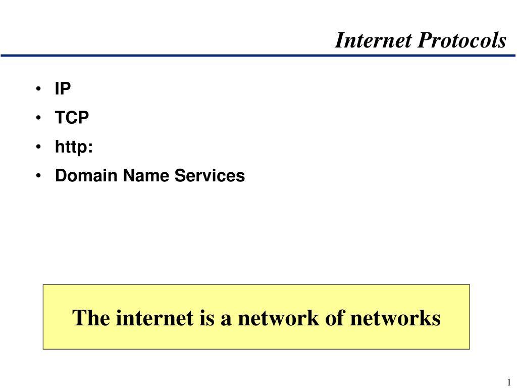 internet protocols l.