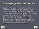 accidentes gramaticales del verbo