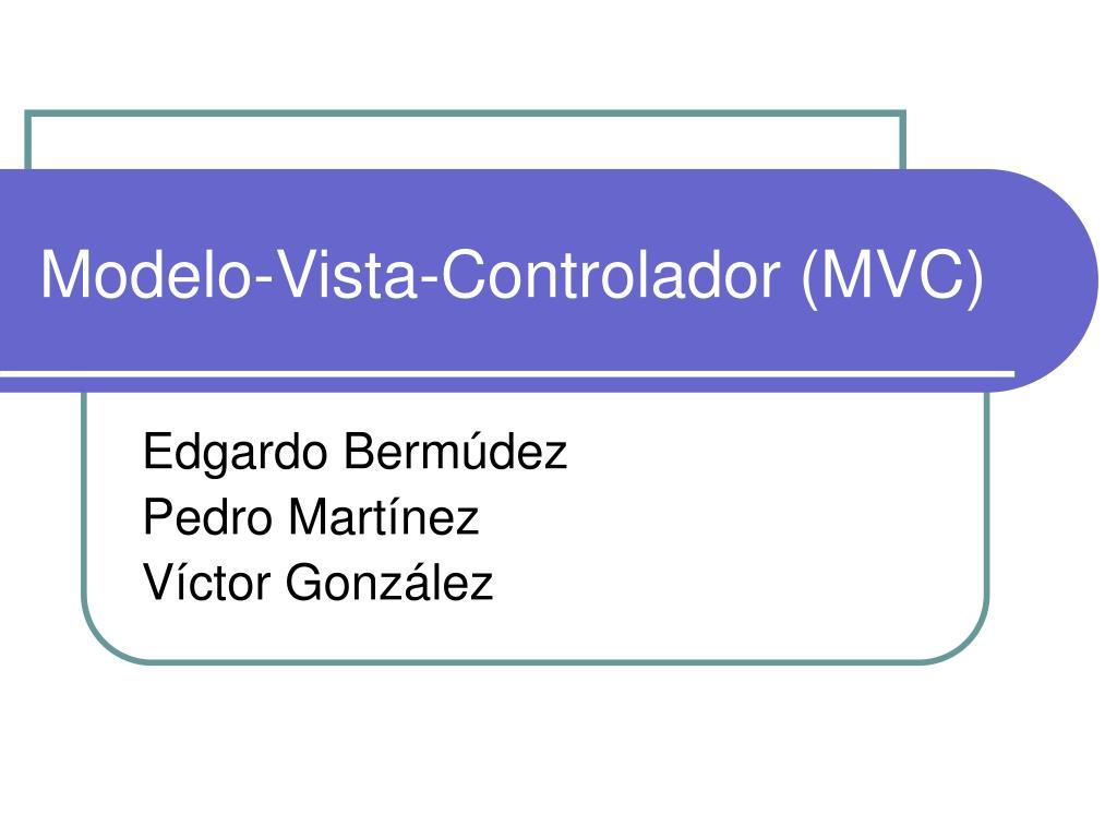 modelo vista controlador mvc l.
