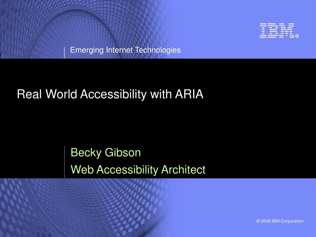real world accessibility with aria l.