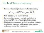 net lead time vs inventory20