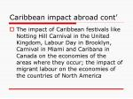 caribbean impact abroad cont
