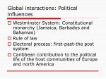 global interactions political influences