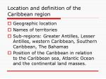 location and definition of the caribbean region