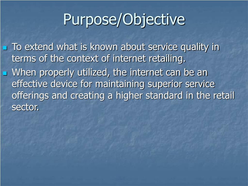 Purpose/Objective