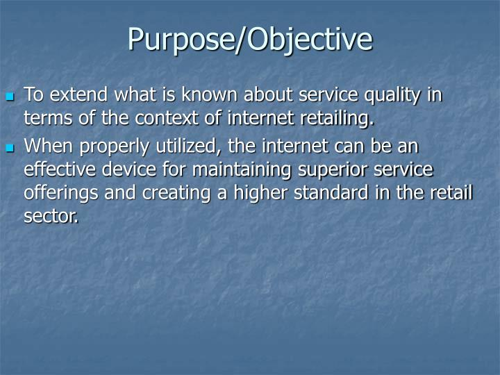 Purpose objective