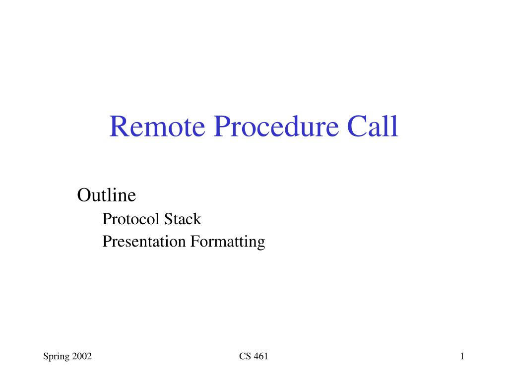 remote procedure call l.