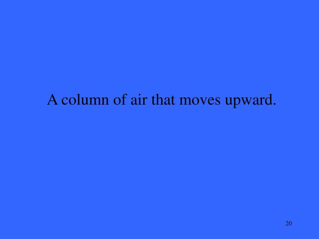 A column of air that moves upward.