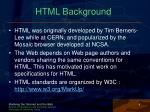 html background