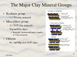 the major clay mineral groups