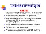 brief smoking cessation interventions in a hospital setting helping patients quit