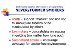 brief smoking cessation interventions in a hospital setting never former smokers