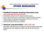 brief smoking cessation interventions in a hospital setting other resources20