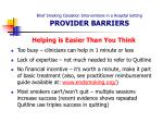brief smoking cessation interventions in a hospital setting provider barriers23