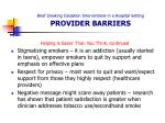 brief smoking cessation interventions in a hospital setting provider barriers24