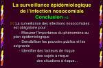 la surveillance pid miologique de l infection nosocomiale conclusion 1 2