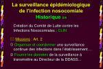 la surveillance pid miologique de l infection nosocomiale historique 2 8