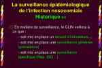 la surveillance pid miologique de l infection nosocomiale historique 8 8
