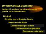 un paradigma moderno