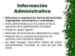 informaci n administrativa
