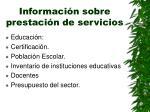 informaci n sobre prestaci n de servicios