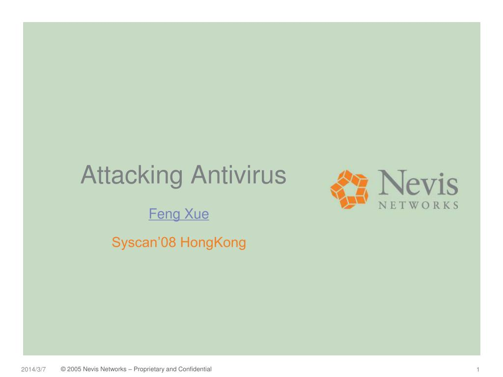 attacking antivirus l.