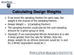 calculating design weights