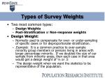 types of survey weights
