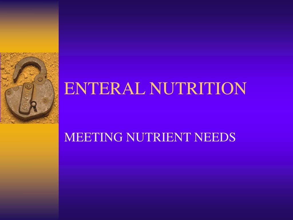 enteral nutrition l.