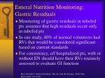 enteral nutrition monitoring gastric residuals41
