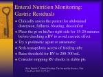 enteral nutrition monitoring gastric residuals42