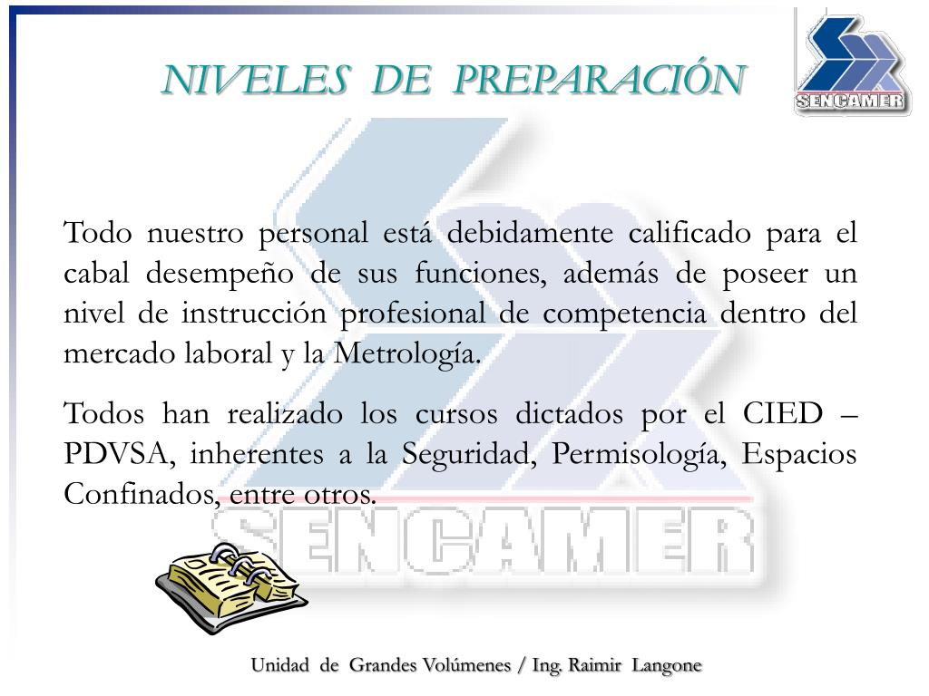 NIVELES  DE  PREPARACIÓN