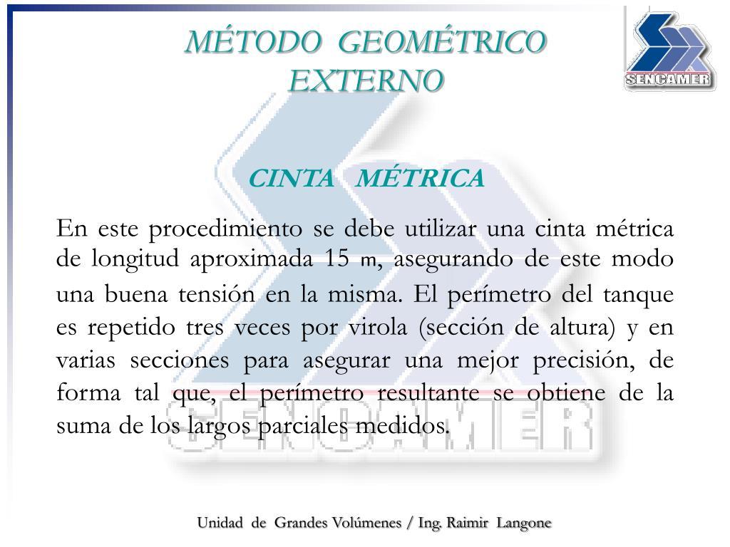 MÉTODO  GEOMÉTRICO EXTERNO