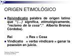 origen etimol gico