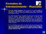 formatos de entretenimiento musicales27