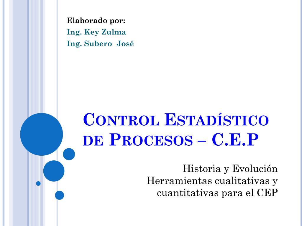 control estad stico de procesos c e p l.