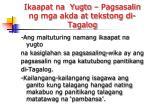 ikaapat na yugto pagsasalin ng mga akda at tekstong di tagalog