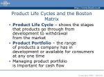 product life cycles and the boston matrix2
