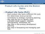 product life cycles and the boston matrix3