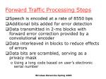 forward traffic processing steps