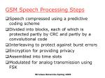gsm speech processing steps