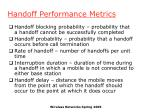 handoff performance metrics13