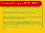napole n bonaparte 1769 1821