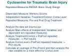 cycloserine for traumatic brain injury32