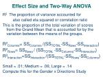 effect size and two way anova