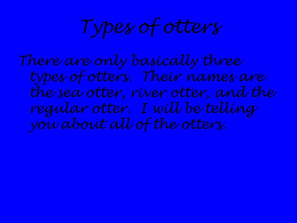Types of otters