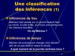 une classification des inf rences 1