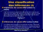 une classification des inf rences 5